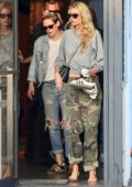 Kristen Stewart meets up with Stella Maxwell at the nail salon after her spa treatment in Los Angeles