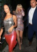 Kylie Jenner dazzles in a sparkly mini-dress during a night out with Sofia Riche and Draya Michele in West Hollywood, Los Angeles