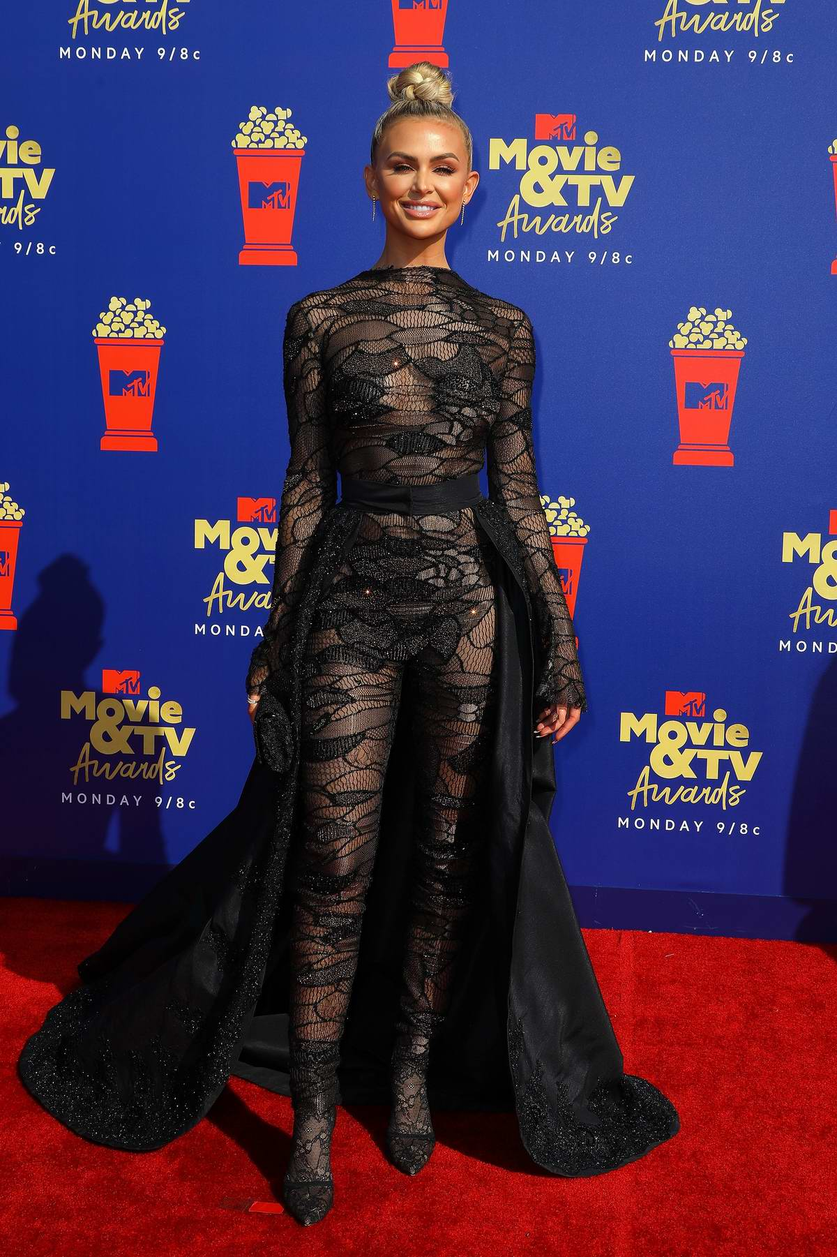 Lala Kent attends the 2019 MTV Movie and TV Awards at Barker Hangar in Santa Monica, California