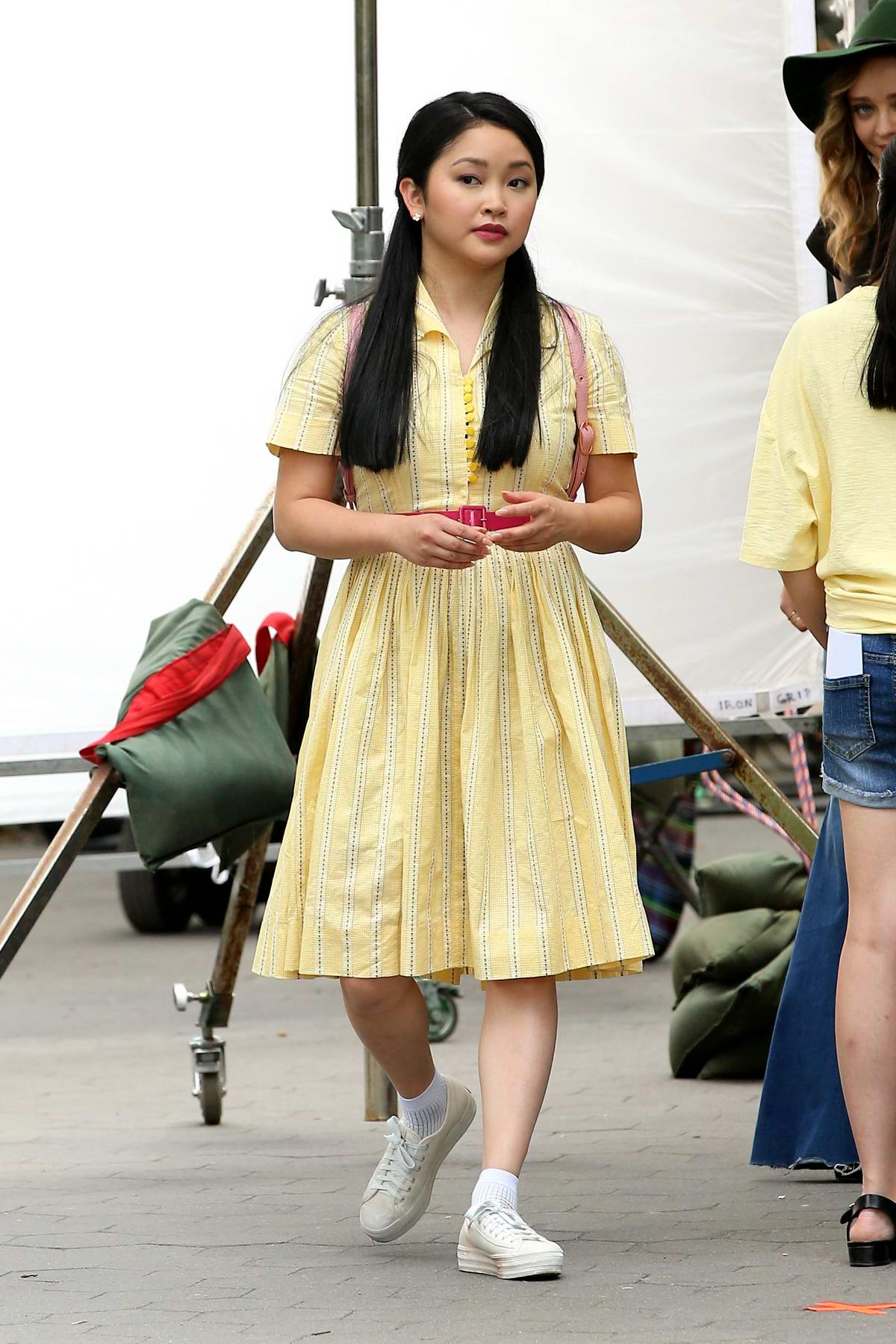 Lana Condor spotted on set of 'To All the Boys I've Loved Before' Season 3 in Washington Square Park in New York City