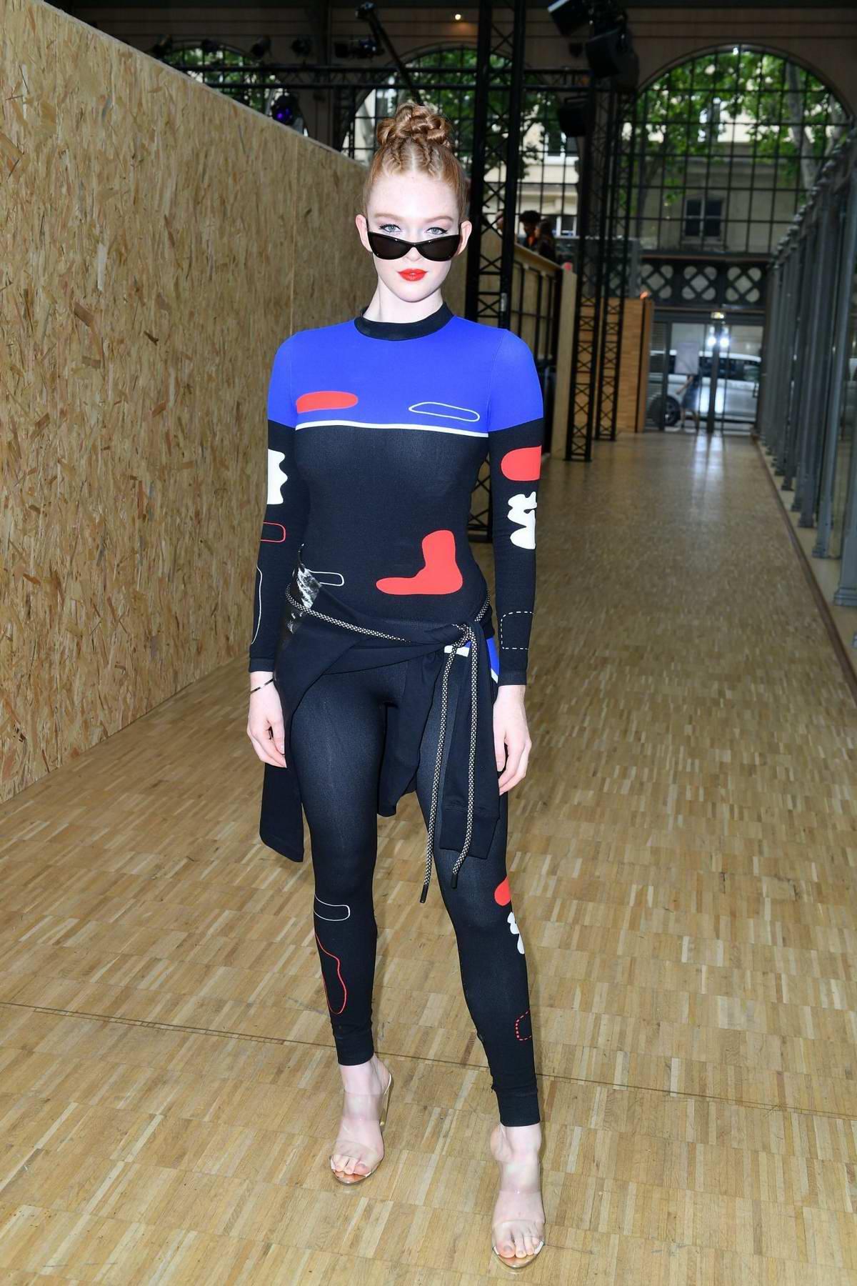 Larsen Thompson attends the Off-White Menswear Spring/Summer 2020 show during Paris Fashion Week in Paris, France