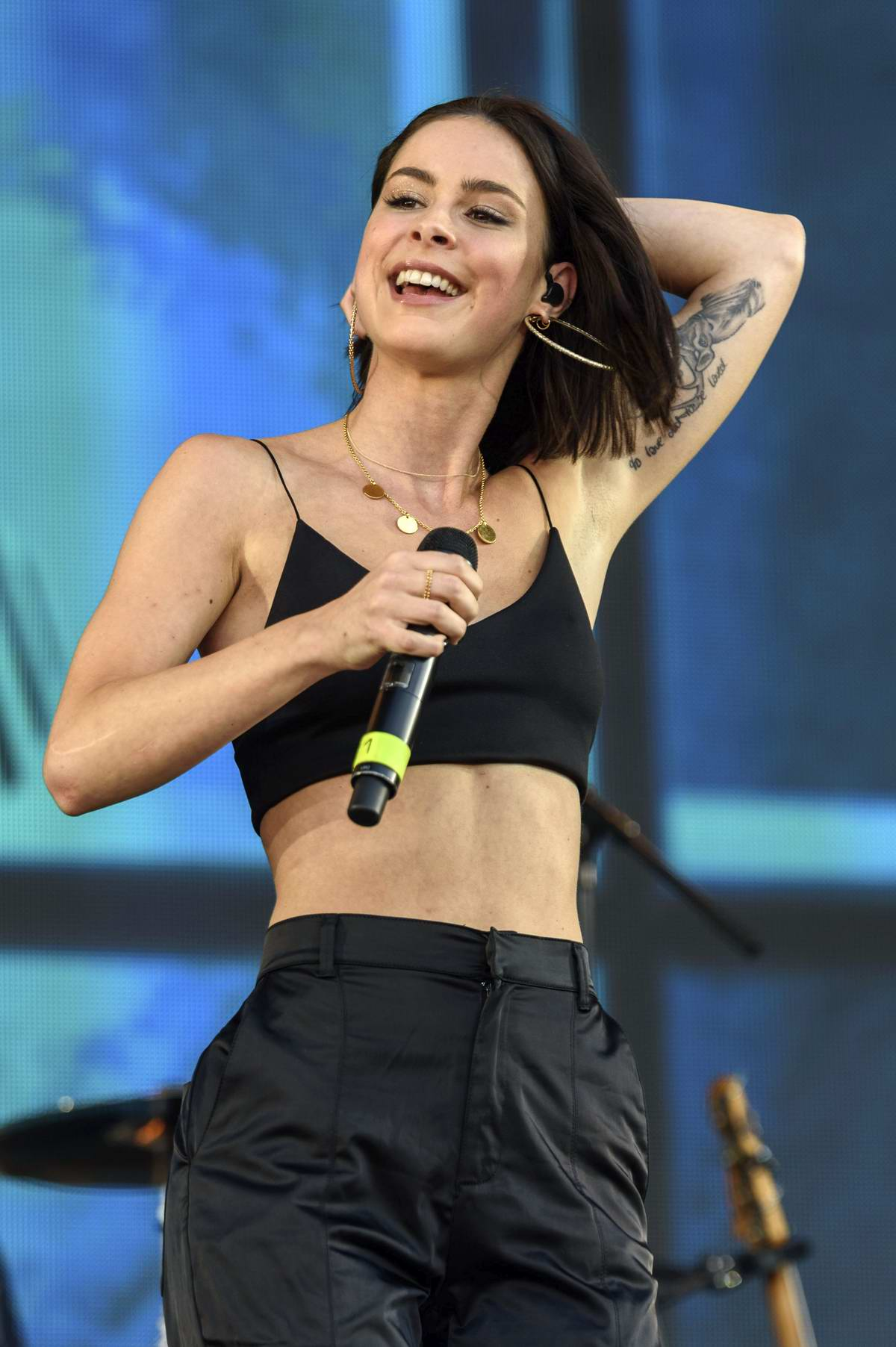 Lena Meyer-Landrut performs onstage at PxP (Peace by Peace) Festival in Berlin, Germany