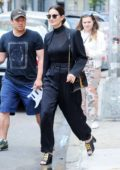 Lily Aldridge looks stylish in an all-black ensemble as she grabs lunch at Sant Ambroeus restaurant in New York City