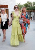 Lindsay Lohan and Hofit Golan at the opening of the Philipp Plein store in Mykonos, Greece