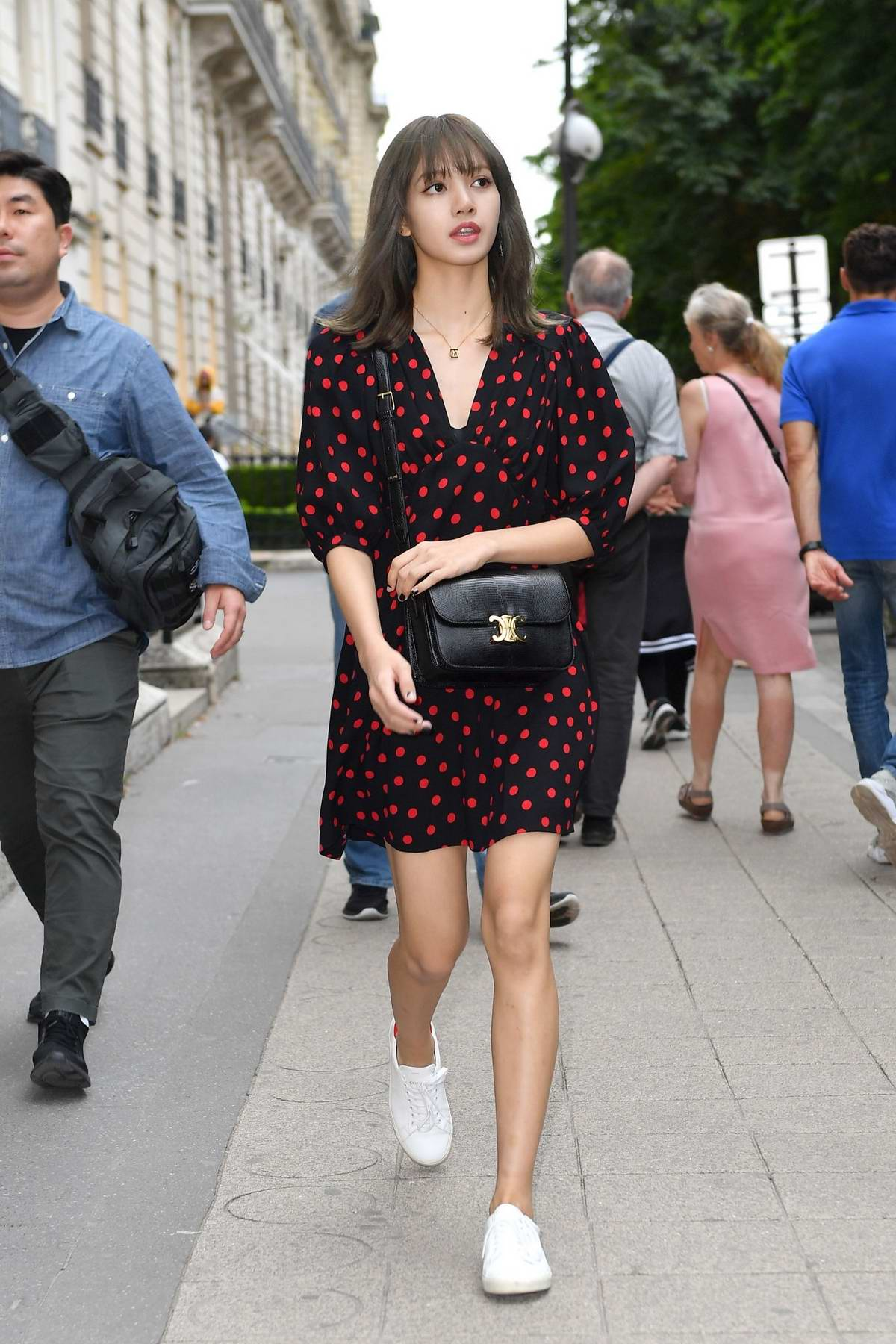 Lisa Manoban of Blackpink seen leaving Celine boutique during Menswear S/S 2020, Paris Fashion Week in Paris, France