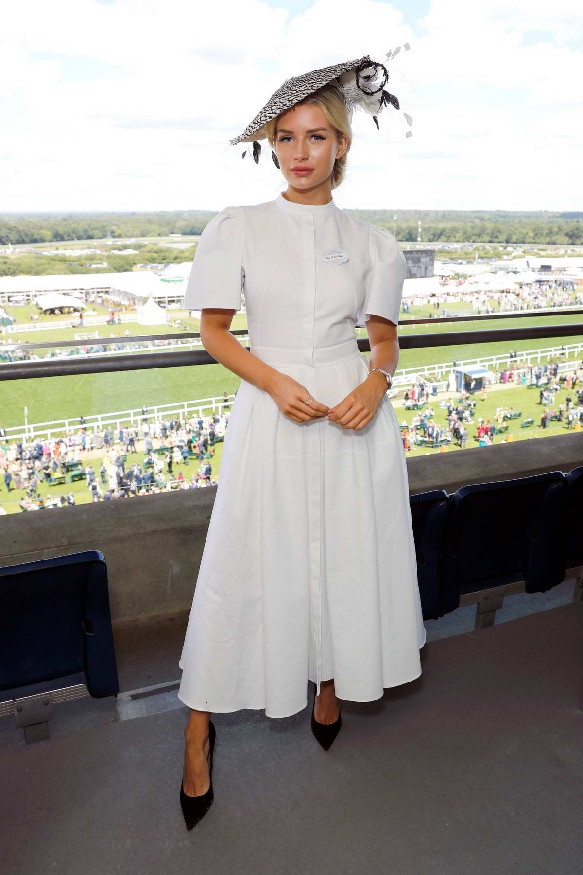 Lottie Moss attends Longines host VIPs in their private suite, Royal Enclosure at Royal Ascot, UK