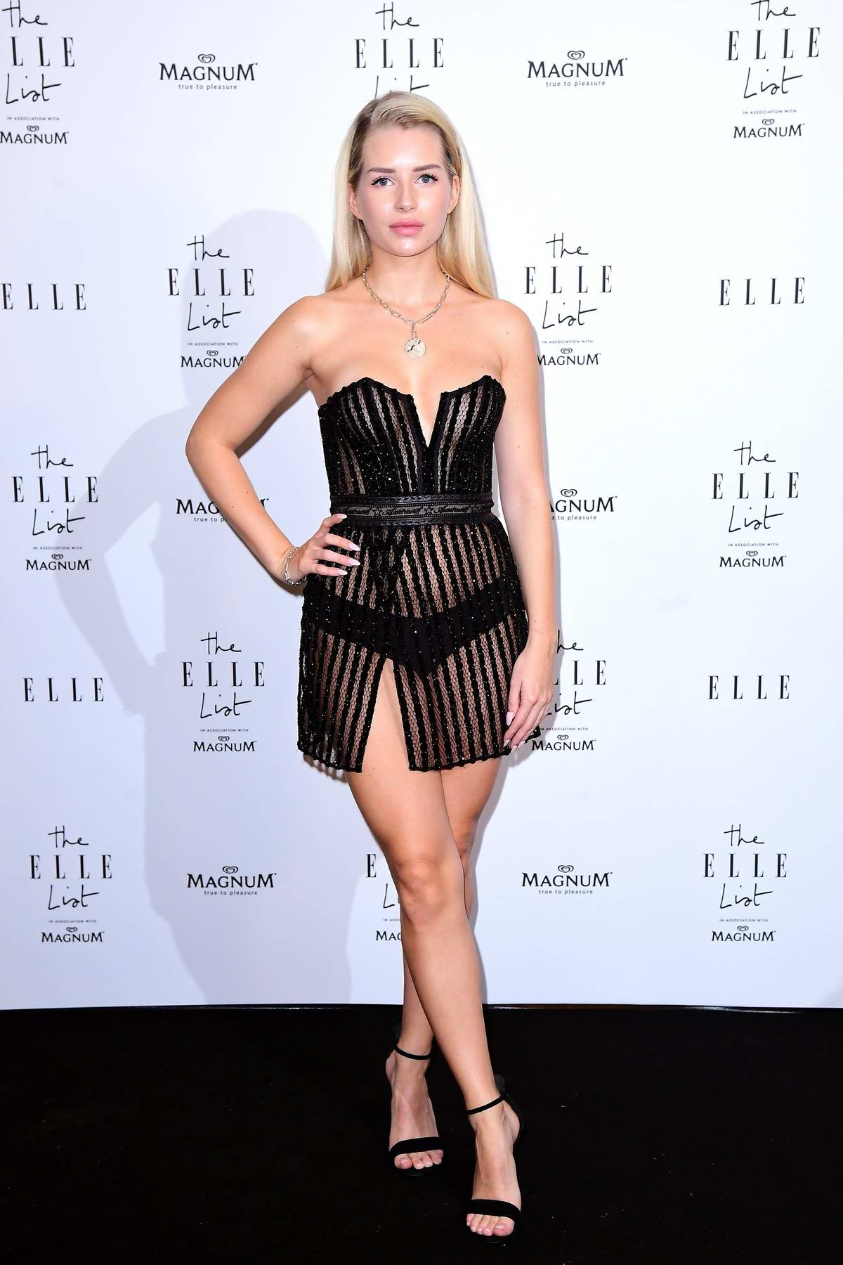 Lottie Moss attends the ELLE List VIP Party at The Petersham in London, UK