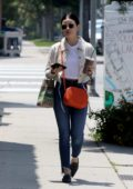 Lucy Hale grabs an iced coffee at Coffee Bean store in Los Angeles