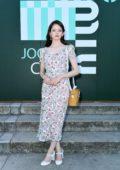Mackenzie Foy attends Miu Miu Club event at Hippodrome d'Auteuil in Paris, France