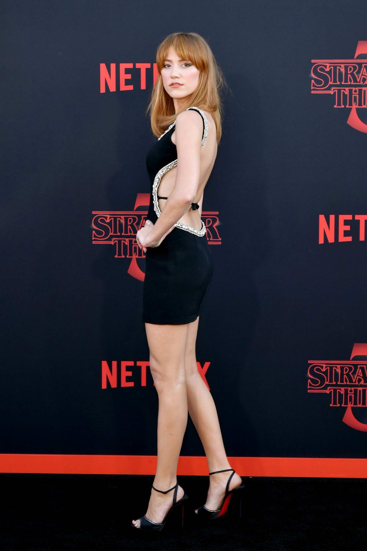 Maika Monroe attends the premiere of Netflix's 'Stranger Things' Season 3 in Santa Monica, California
