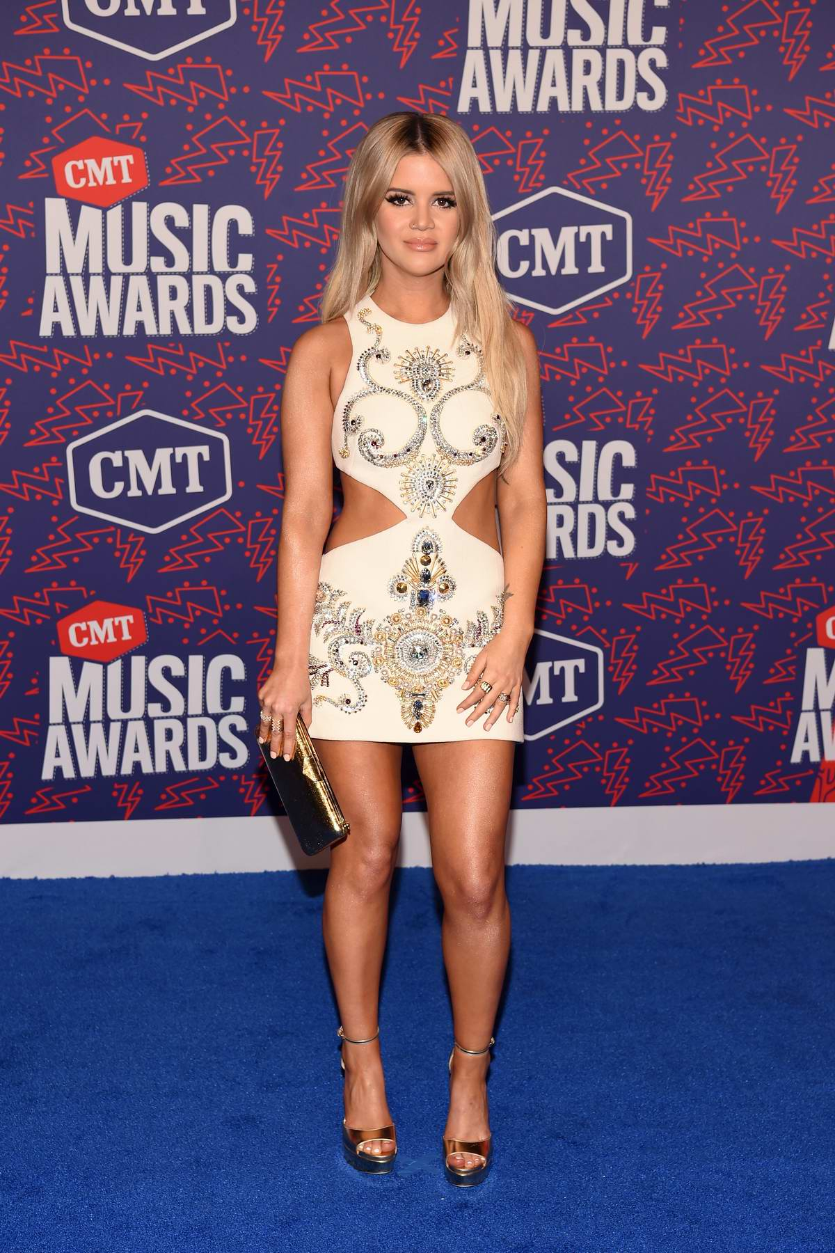 Maren Morris attends the 2019 CMT Music Awards at Bridgestone Arena in Nashville, TN