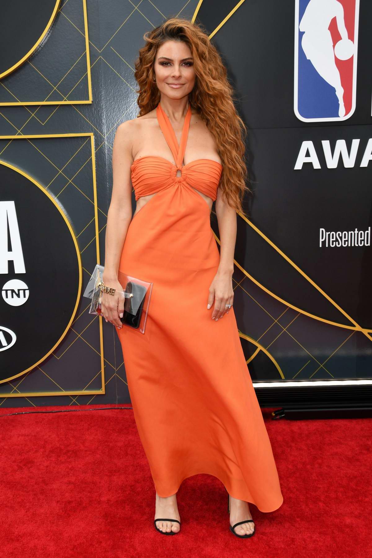 Maria Menounos attends the 2019 NBA Awards held at Barker Hangar in Santa Monica, California