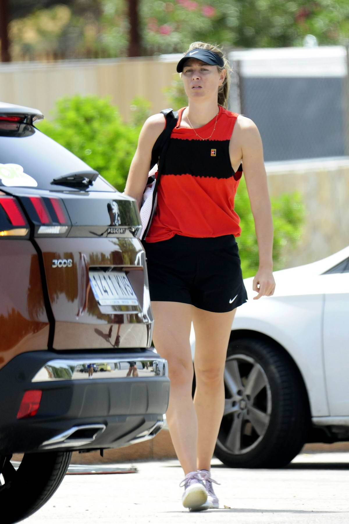 Maria Sharapova seen arriving for her training session in Mallorca, Spain