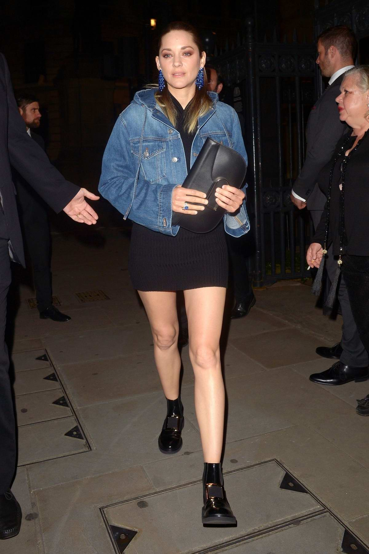 Marion Cotillard seen leaving the Chopard Bond Street Boutique reopening dinner at Banqueting House in Whitehall, London, UK