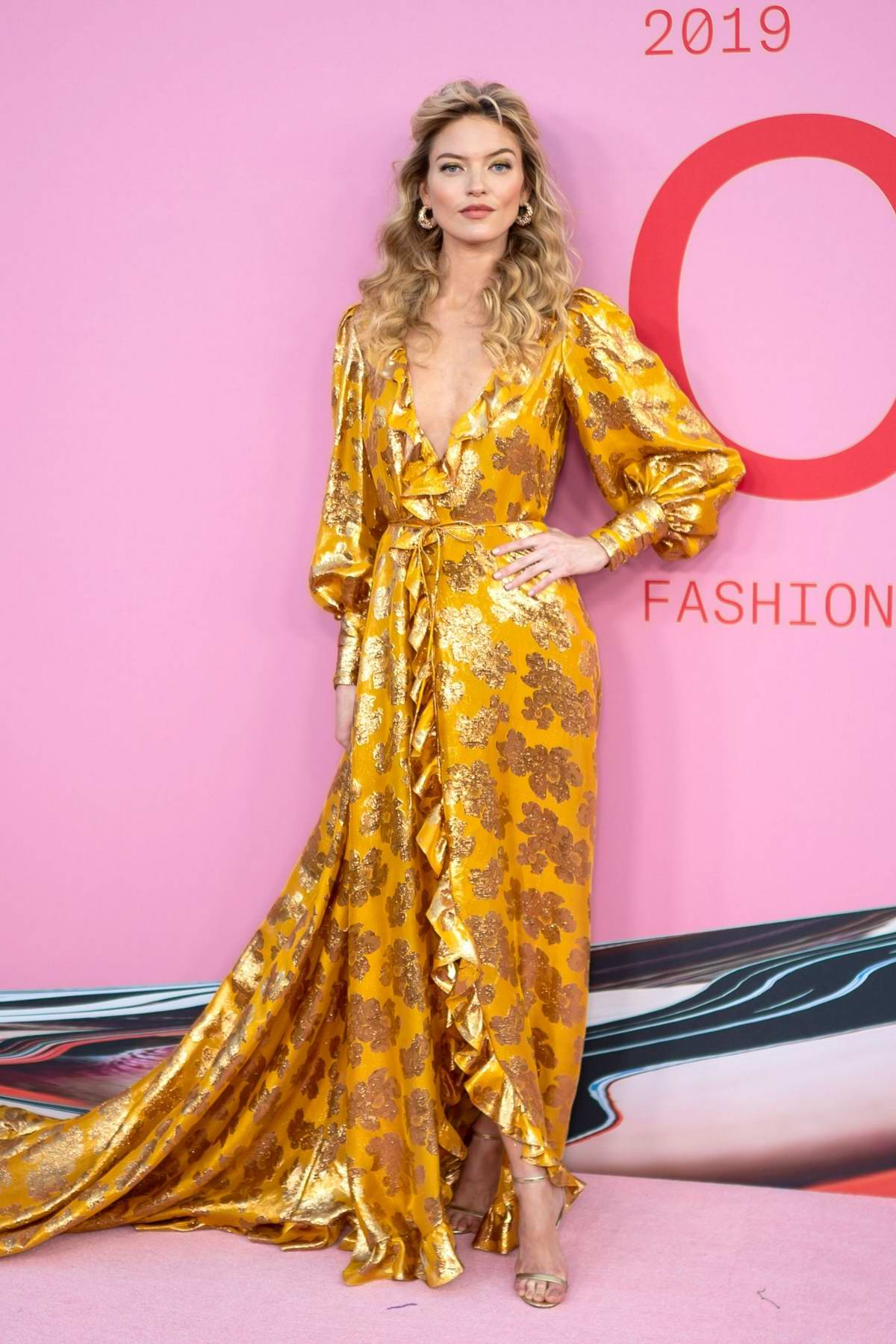 Martha Hunt attends the 2019 CFDA Fashion Awards at Brooklyn Museum in New York City