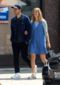 Melissa Benoist and Chris Wood are all smiles as they leave a coffee shop in West Hollywood, Los Angeles