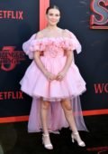 Millie Bobby Brown attends the premiere of Netflix's 'Stranger Things' Season 3 in Santa Monica, California