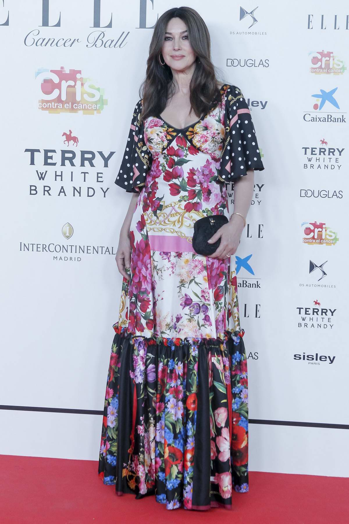 Monica Bellucci attends Solidarity gala dinner for CRIS Foundation against Cancer at Intercontinental Hotel in Madrid, Spain