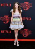 Natalia Dyer attends the premiere of Netflix's 'Stranger Things' Season 3 in Santa Monica, California
