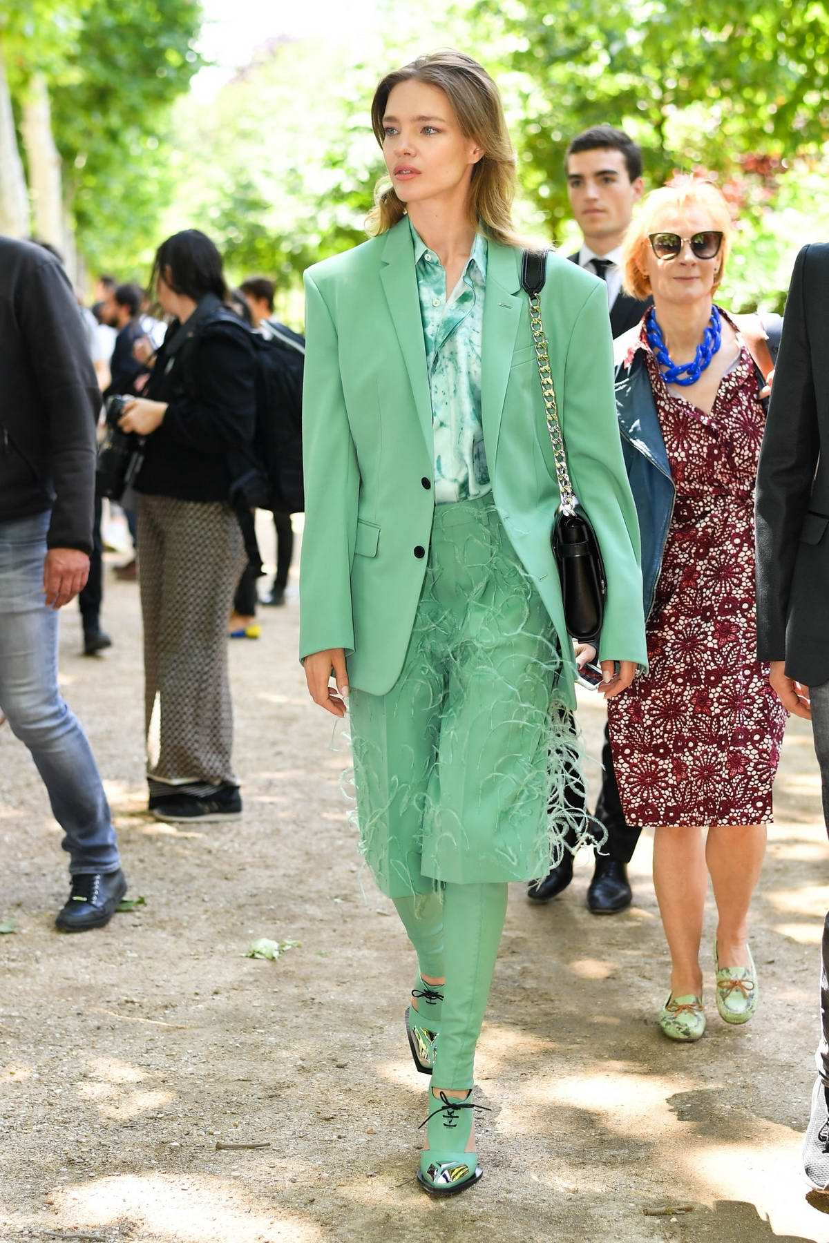 Natalia Vodianova attends the Berluti Menswear Spring/Summer 2020 show during Paris Fashion Week in Paris, France