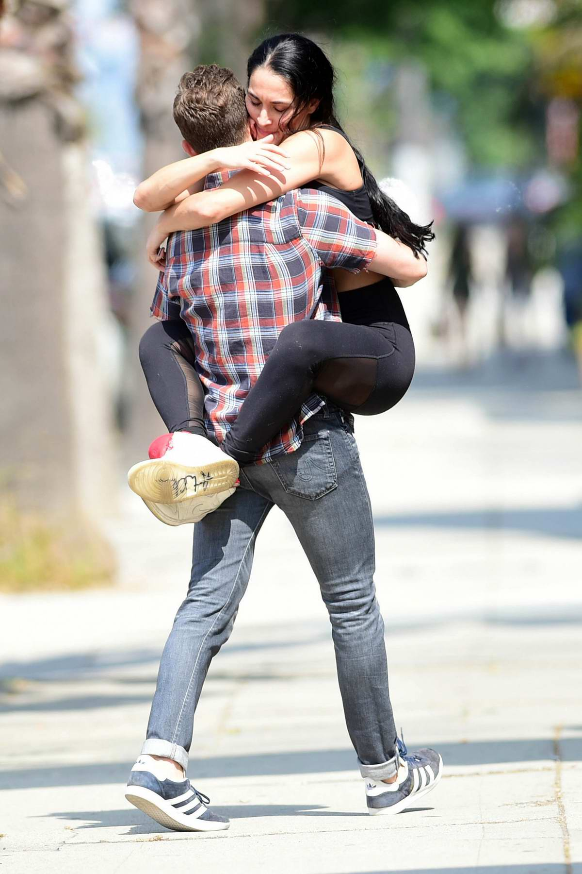 Nikki Bella packs on some serious PDA with boyfriend Artem Chigvintsev while out in Los Angeles