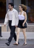 Olivia Cooke and boyfriend Christopher Abbott steps out for a romantic date night in New York City