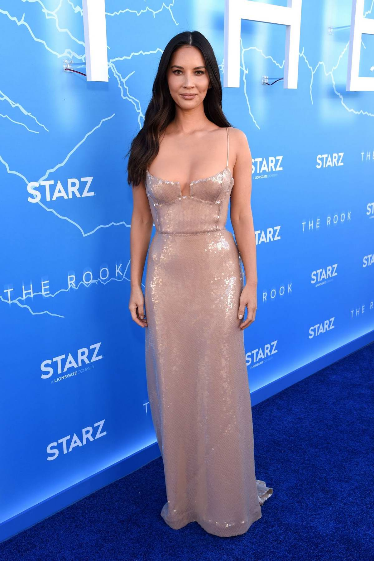 Olivia Munn attends the Premiere of Starz's 'The Rook' at The Getty Museum in Los Angeles