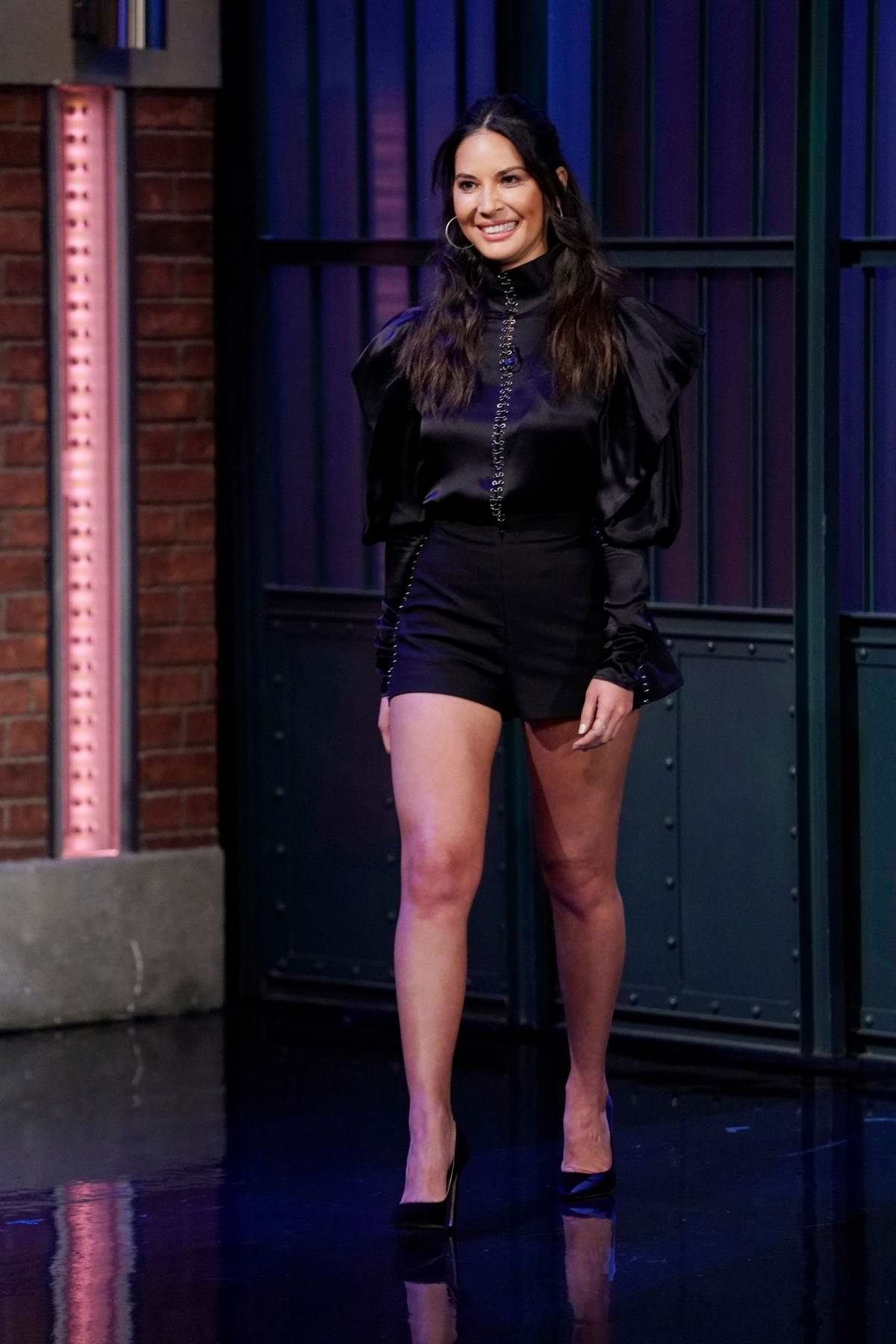 Olivia Munn makes an appearance on 'Late Night With Seth Meyers' in New York City