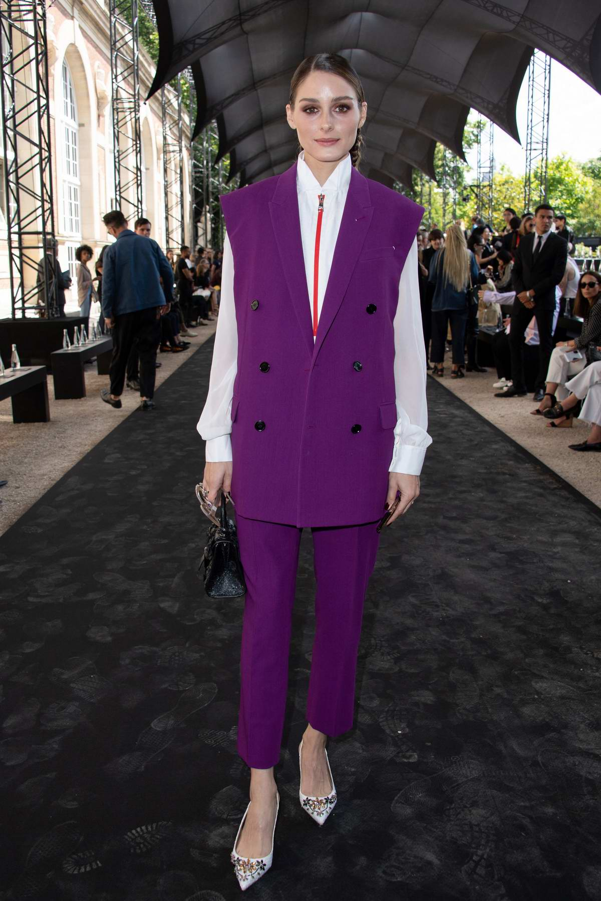 Olivia Palermo attends the Berluti Menswear Spring/Summer 2020 show during Paris Fashion Week in Paris, France