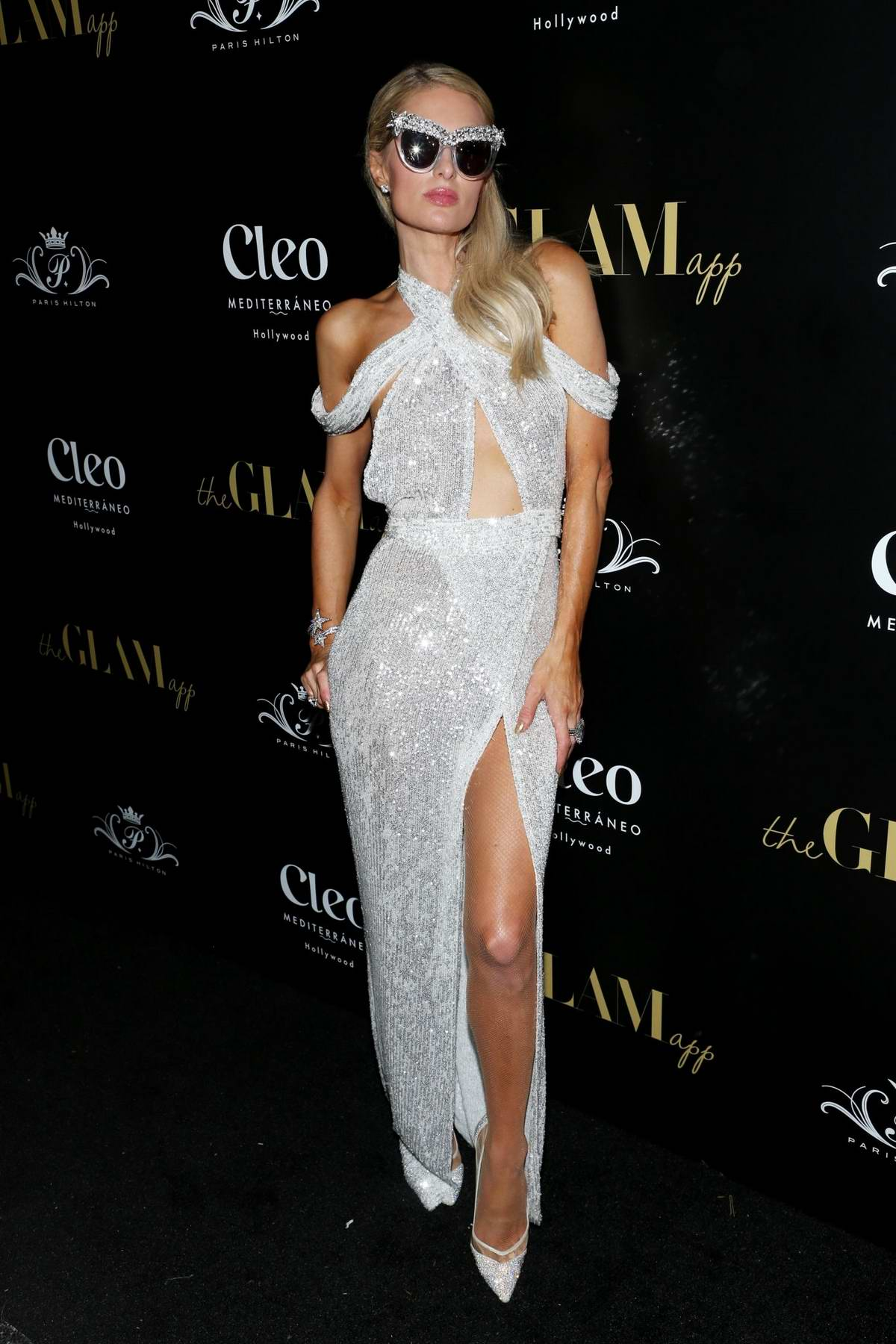 Paris Hilton attends The Glam App Celebration Event at Cleo in Hollywood, California