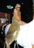 Paris Hilton play the DJ at nightingale for sbe Nightlife's Dean May Birthday Party in Los Angeles