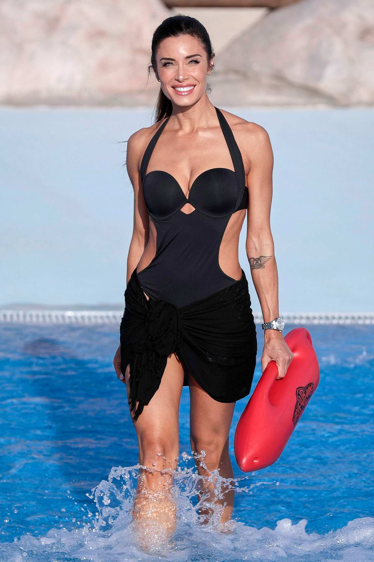 Pilar Rubio poses during the Summer Portrait Session at Parque Warner Beach in Madrid, Spain