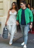Priyanka Chopra and Nick Jonas seen leaving their hotel in Paris, France
