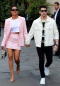 Priyanka Chopra and Nick Jonas seen walking near the Champs-Elysees in Paris, France