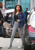 Priyanka Chopra keeps it casual as she arrives for a flight out of LAX airport, Los Angeles