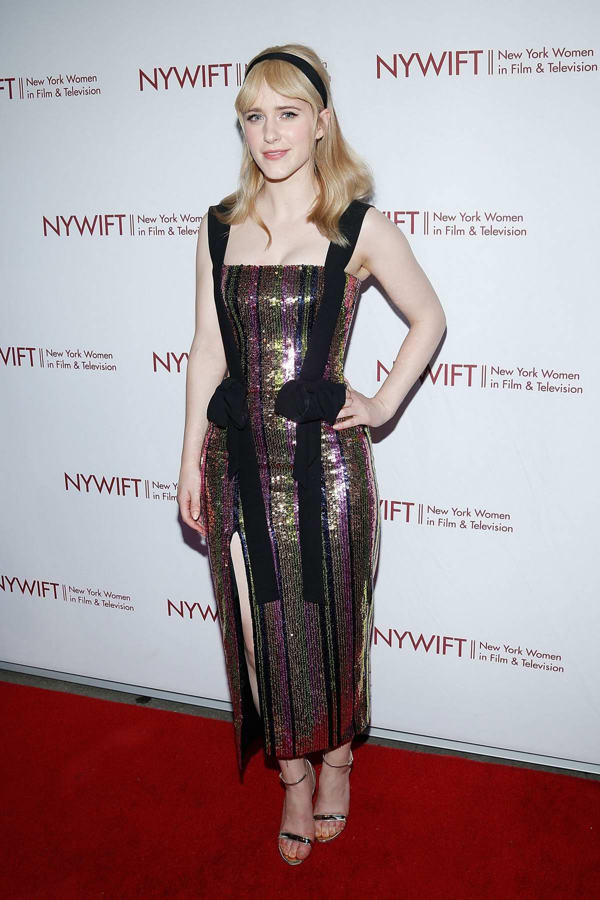 Rachel Brosnahan attends the New York Women in Film and Television's Designing Women Awards at the DGA in New York City