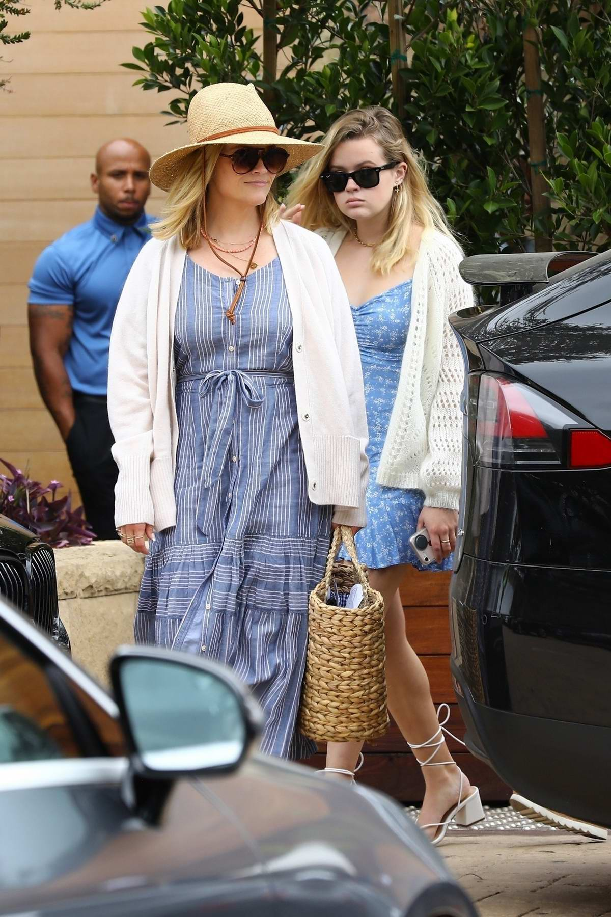 Reese Witherspoon and Ava Phillippe celebrate Father's Day with a brunch with Tim Toth at Soho House in Malibu, California