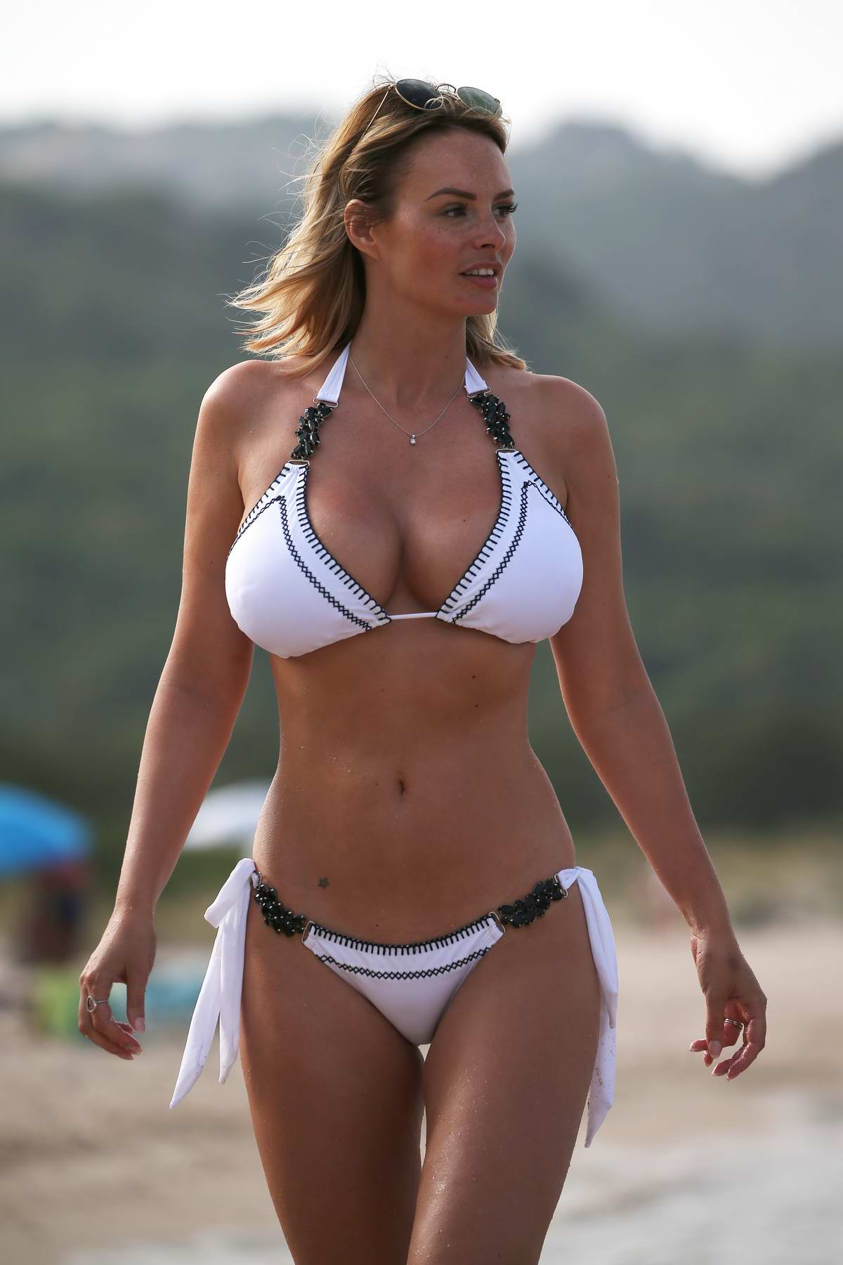 Rhian Sugden Seen Wearing A White Bikini While At The -2982