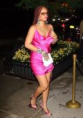 Rihanna dazzles in hot pink for her Fenty Pop-Up party in New York City