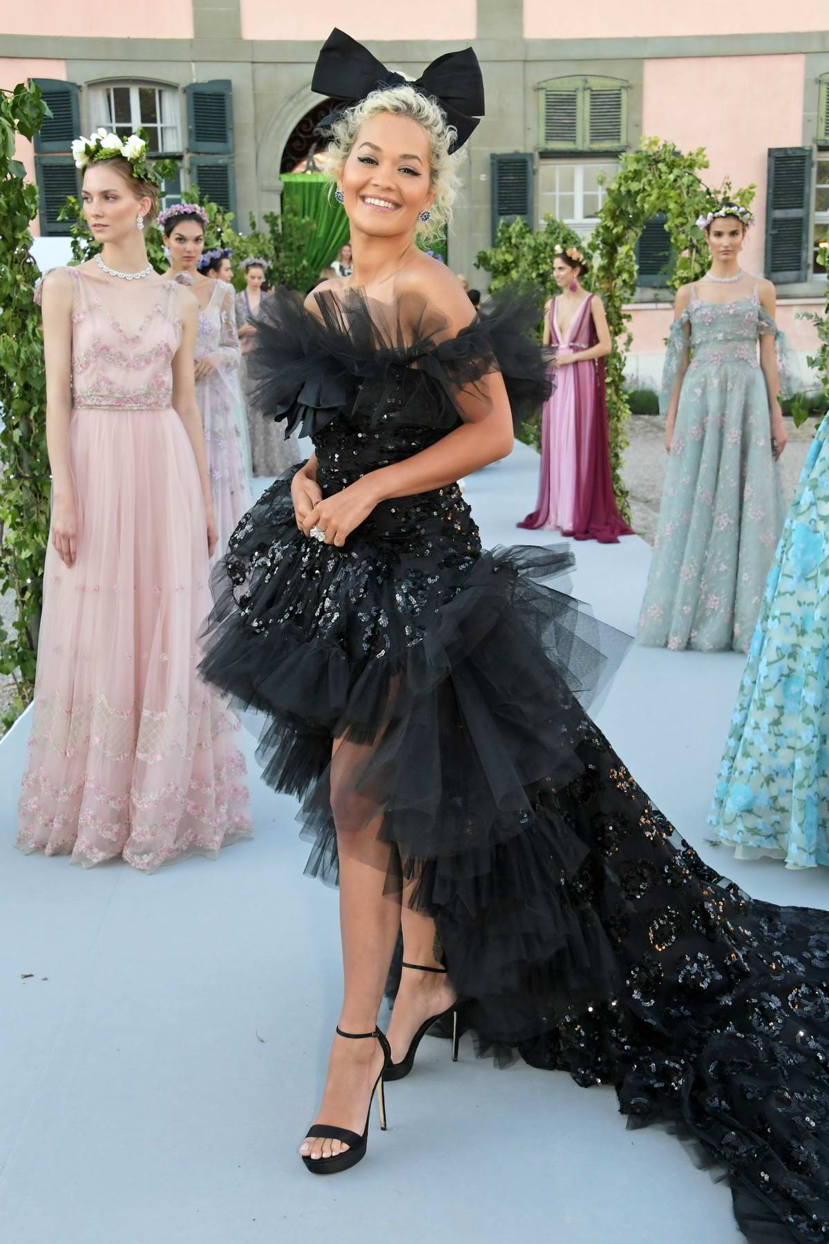 Rita Ora attends 'The Naked Heart Foundation: The Secret Garden Charity Gala' at Chateau de Coppet in Geneva, Switzerland