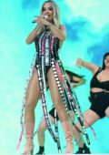 Rita Ora performs onstage during the 2019 Capital FM Summertime Ball at Wembley Stadium in London, UK