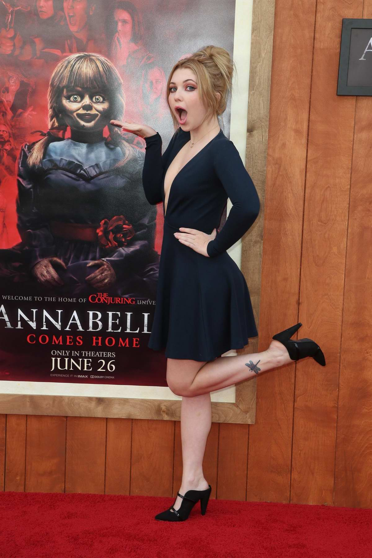 Sammi Hanratty attends the World Premiere of 'Annabelle Comes Home' at the Regency Village Theatre in Los Angeles