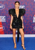 Sarah Hyland attends the 2019 CMT Music Awards at Bridgestone Arena in Nashville, TN