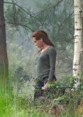 Scarlett Johansson spotted filming 'Black Widow' at Pinewood Studios in Atlanta, Georgia