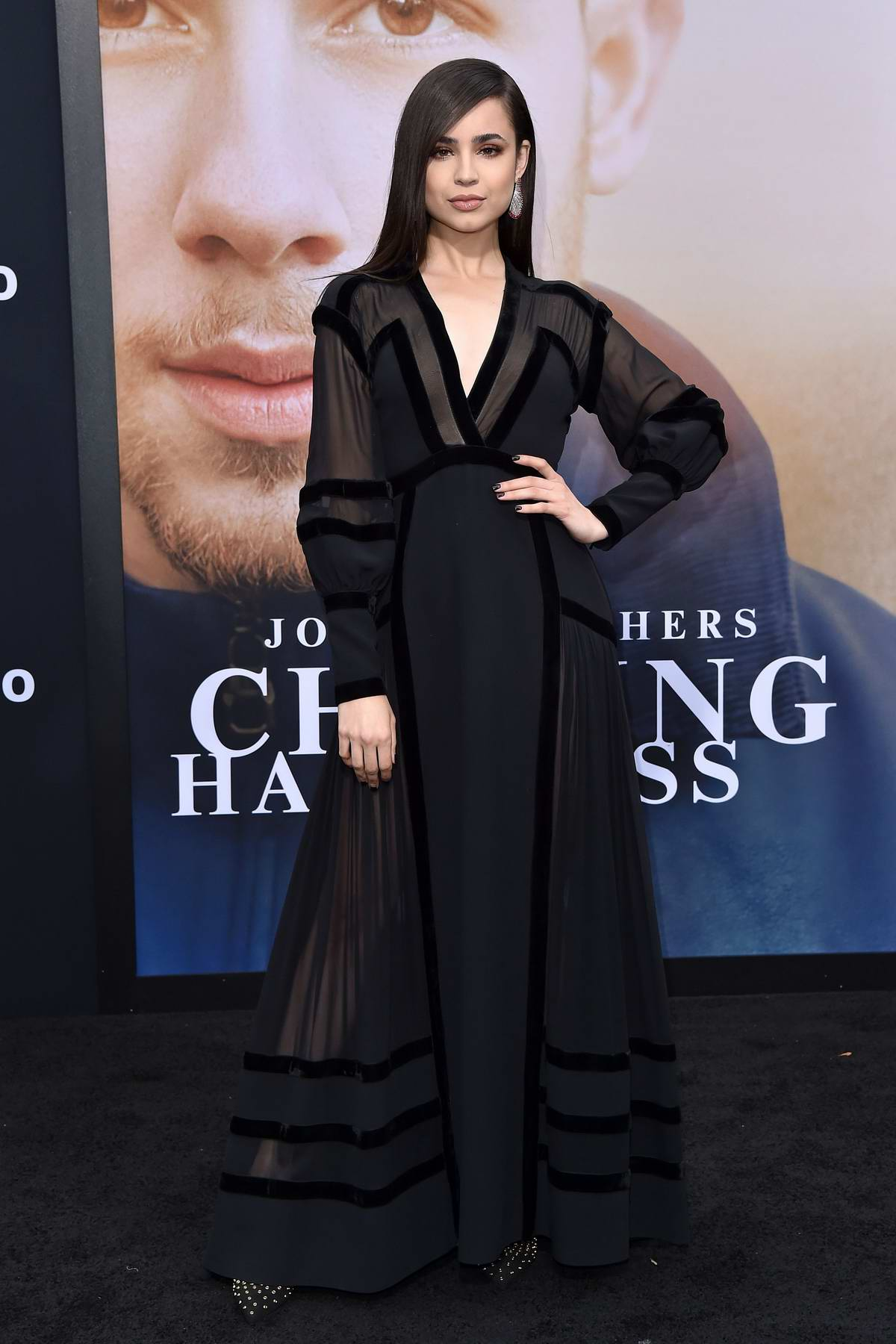 Sofia Carson attends 'Chasing Happiness' film premiere at Regency Bruin Theatre in Los Angeles