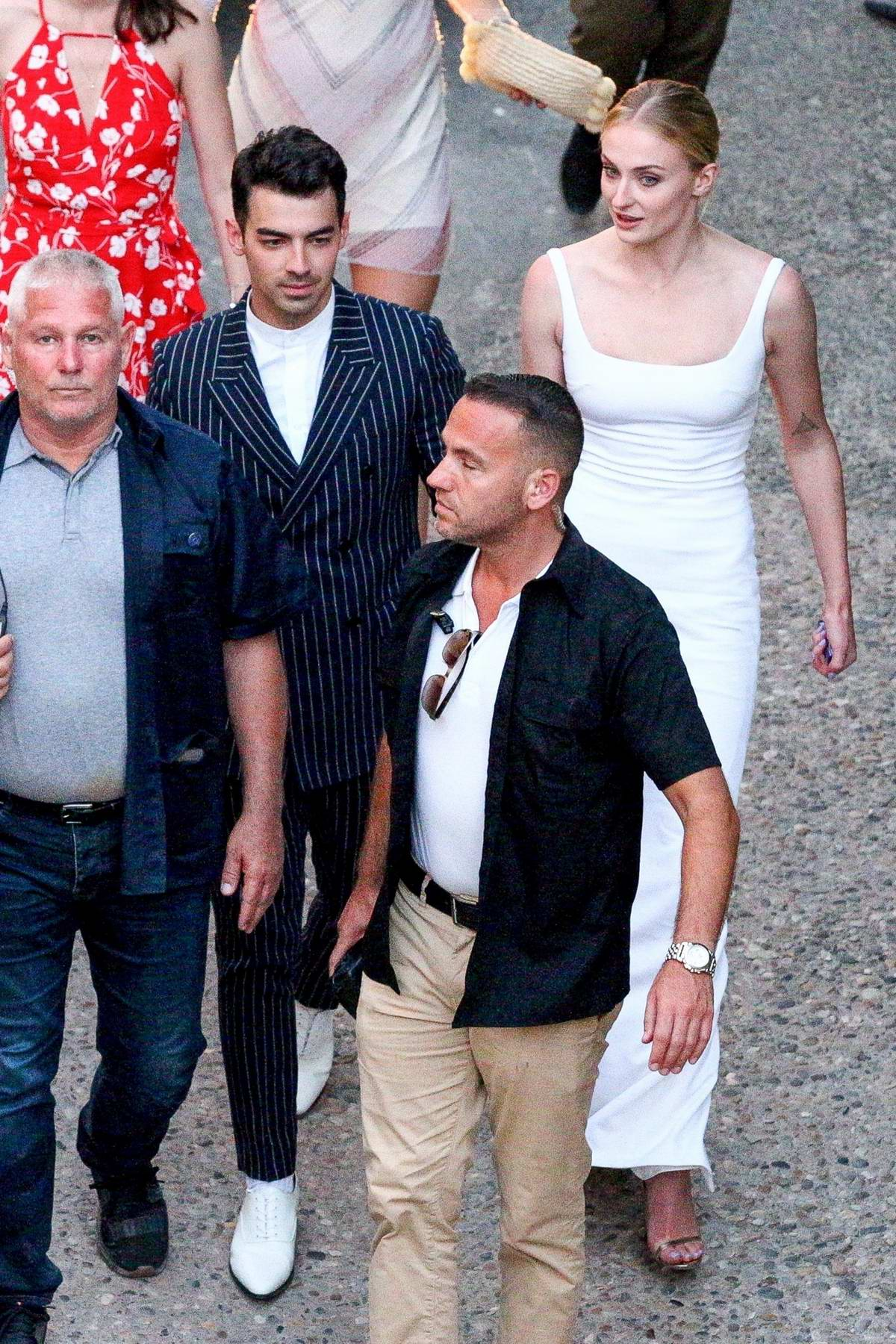 Sophie Turner and Joe Jonas arrive for a pre-wedding party in Avignon, France