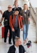 Sophie Turner and Joe Jonas spotted with their dog as they arrive in Avignon, France