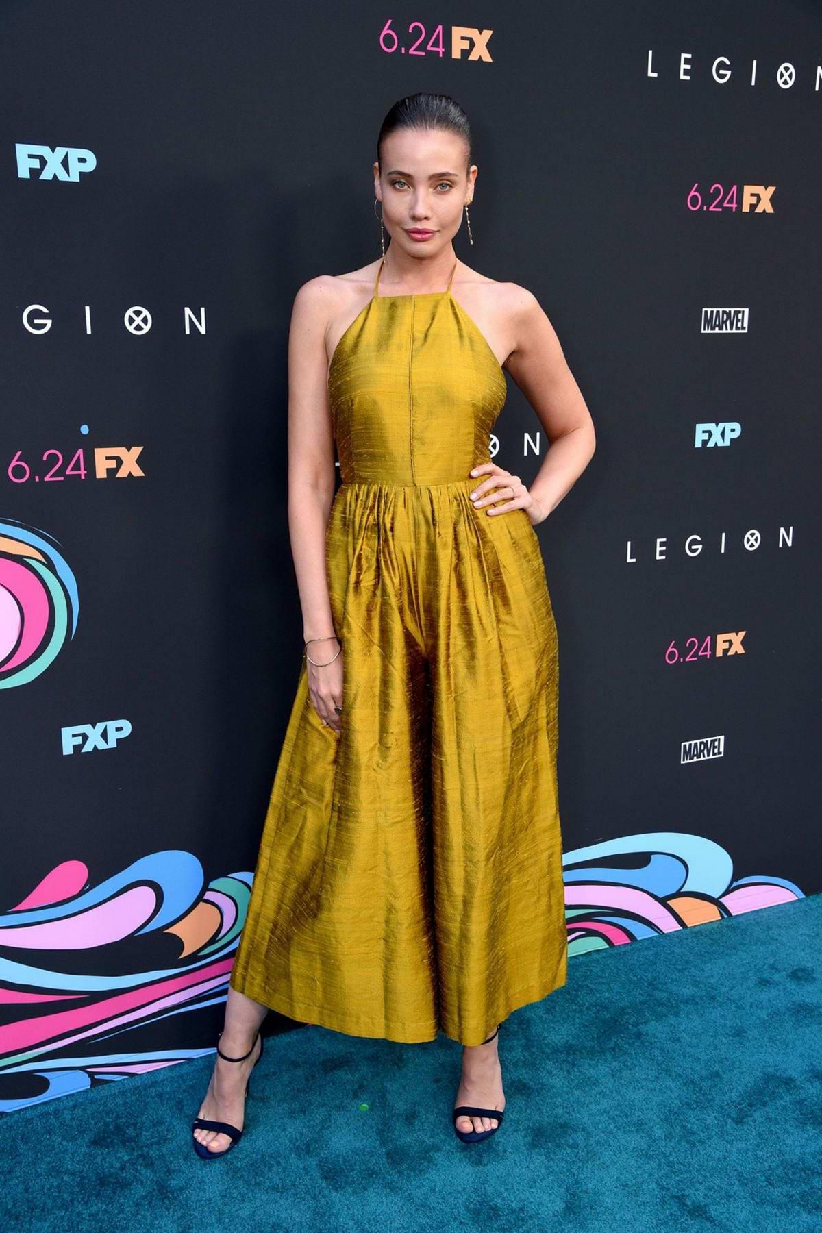 Stephanie Corneliussen attends the Premiere of FX's 'Legion' Season 3 in Hollywood, California