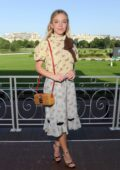 Sydney Sweeney attends Miu Miu Club event at Hippodrome d'Auteuil in Paris, France