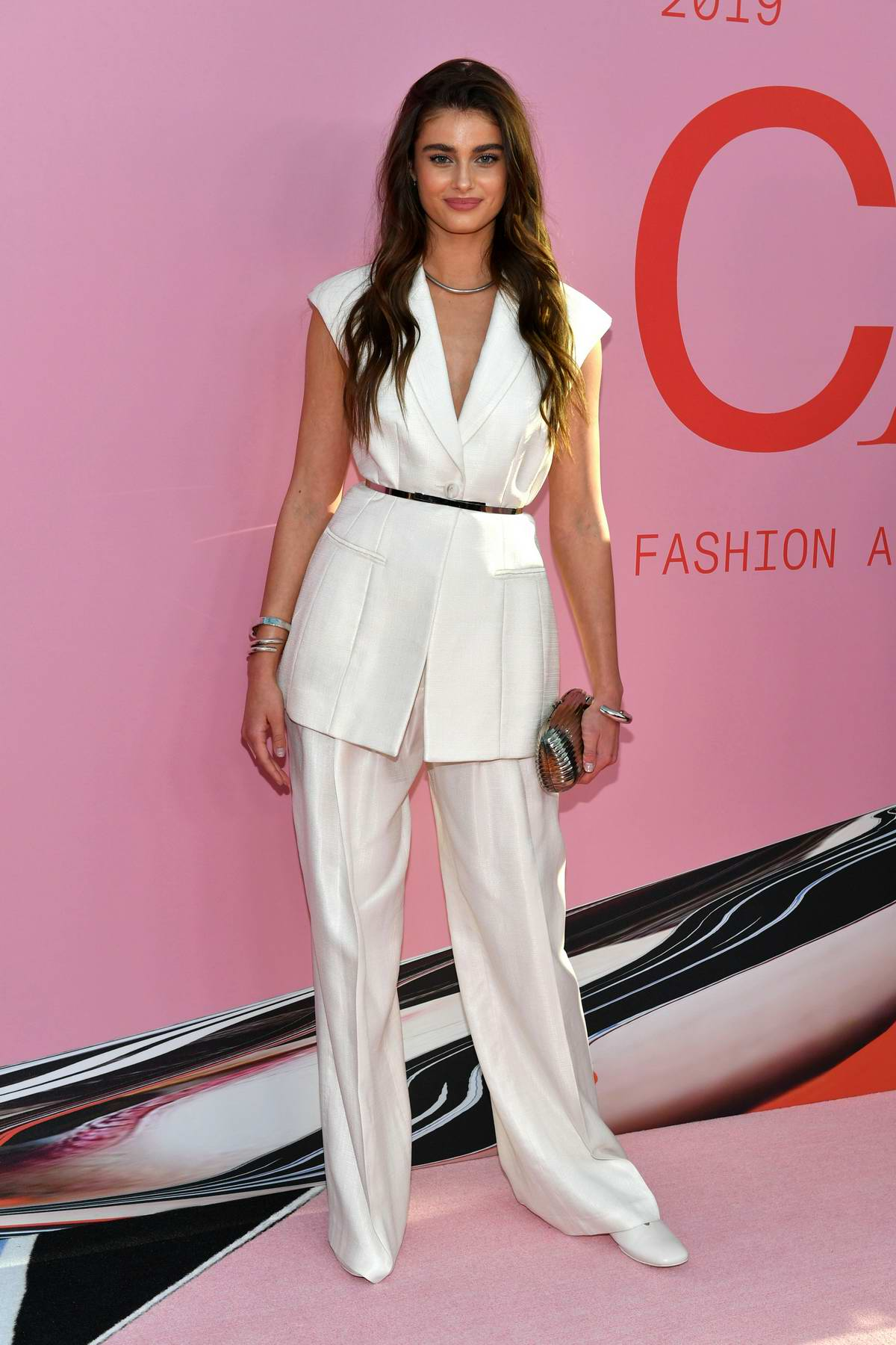 Taylor Hill attends the 2019 CFDA Fashion Awards at Brooklyn Museum in New York City